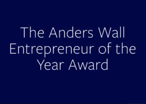 Anders Wall Entrepreneur of the year awardAward