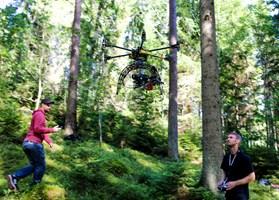 Intuitive Aerials drönare under ett filmset